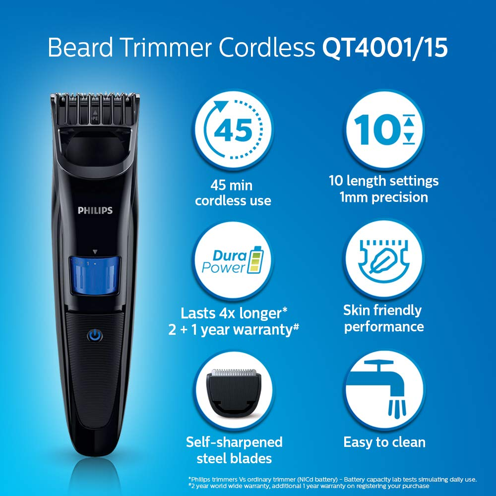 Philips QT4001 Cordless Trimmer